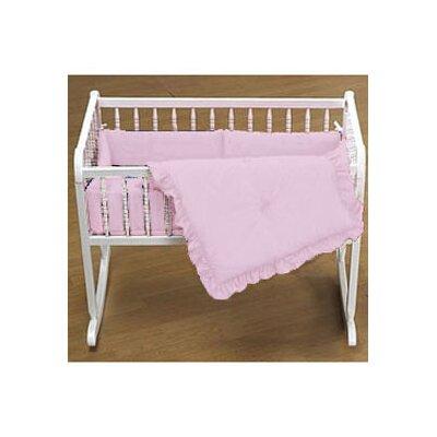 "Durkee Cradle Bedding Set Color: Pink, Size: 18"" W x 36"" L"