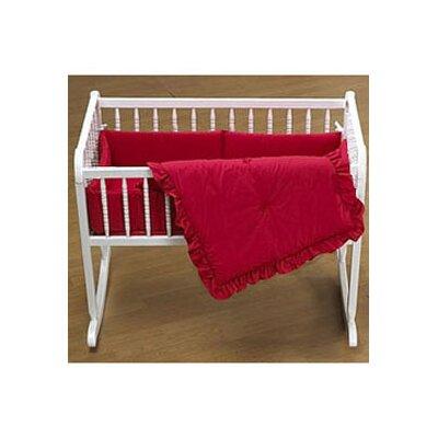 "Durkee Cradle Bedding Set Color: Red, Size: 15"" W x 33"" L"