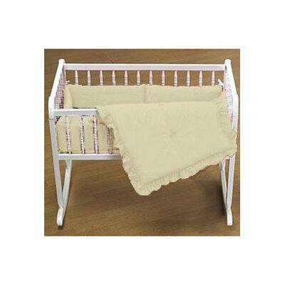 "Durkee Cradle Bedding Set Color: Yellow, Size: 15"" W x 33"" L"