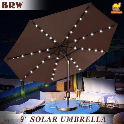 Kaczmarek 9' Market Umbrella Fabric Color: Brown