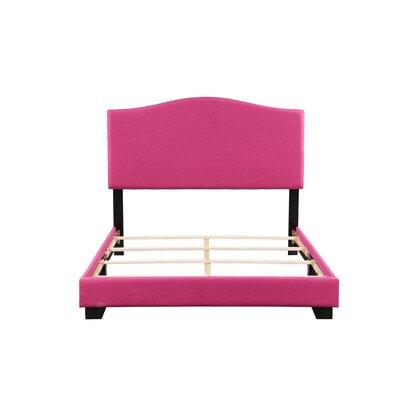 Gene Panel Bed Size: Full, Bed Frame Color: Pink