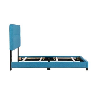 Alexander Panel Bed Bed Frame Color: Blue, Size: Full
