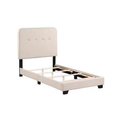 Alexander Panel Bed Bed Frame Color: Tan, Size: Twin