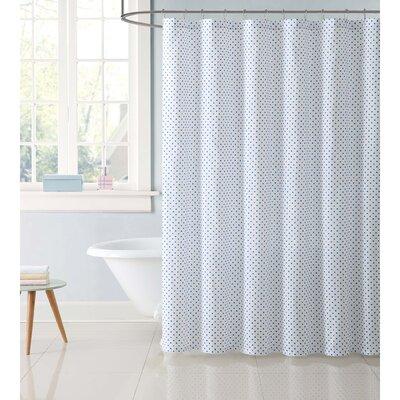 Duell Kids Dot Shower Curtain Color: Blue