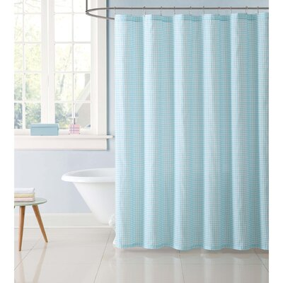 Duell Kids Gingham Shower Curtain Color: Aqua