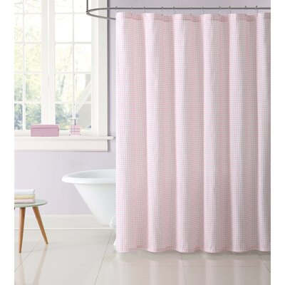 Duell Kids Gingham Shower Curtain Color: Pink