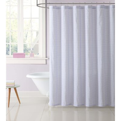 Duell Kids Gingham Shower Curtain Color: Purple