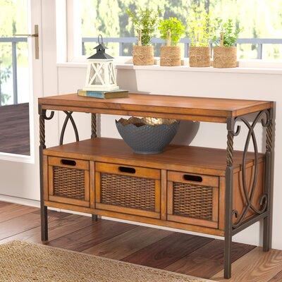 Ellie Console Table Color: Brown