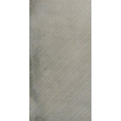 """Borigni Diagonal-R 18"""" x 35"""" Porcelain Field Tile in Gray"""