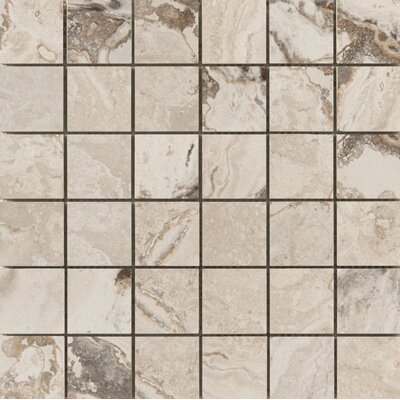 "Pergamo 2"" x 2"" Porcelain Mosaic Tile in Natural"