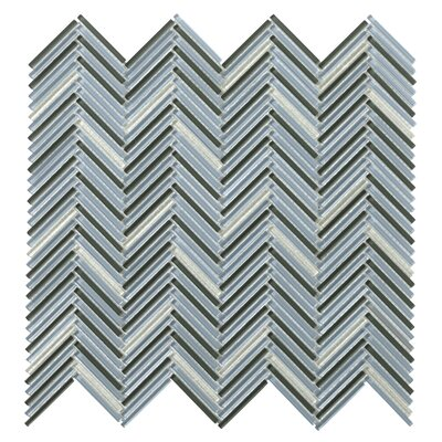 "Pivot 1"" x 1"" Glass Mosaic Tile in Turn"