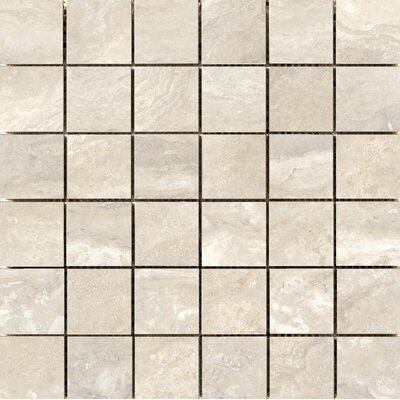 "Quest Polished 2"" x 2"" Porcelain Mosaic Tile in Ivory"