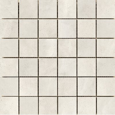 "Quest Polished 2"" x 2"" Porcelain Mosaic Tile in Silver"