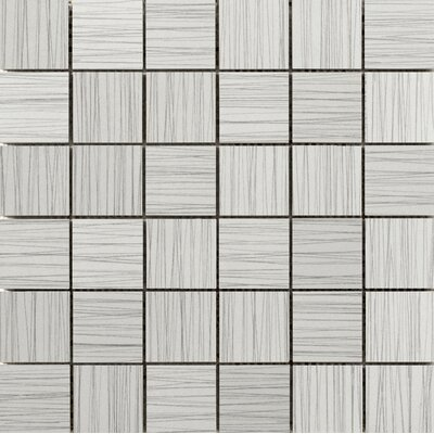 "Thread 2"" x 2"" Porcelain Mosaic Tile in Silver"