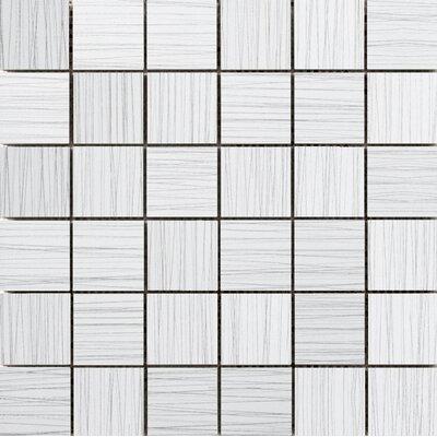 "Thread 2"" x 2"" Porcelain Mosaic Tile in White"