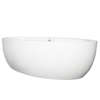 "73"" x 36"" Freestanding Soaking Bathtub"