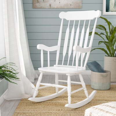 Asia Rocking Chair Frame Color: White