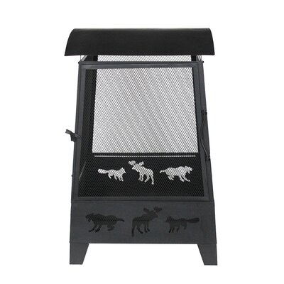 Laser Cut Animal Design Outdoor Steel Charcoal Fire Pit