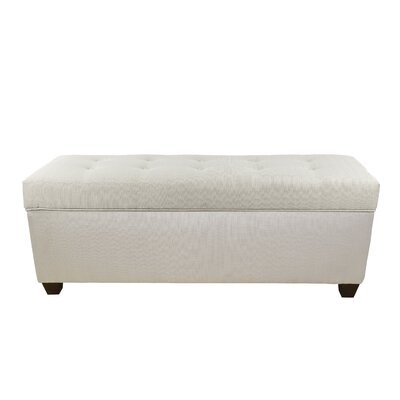 Hearns Button Tufted Upholstered Storage Bench Upholstery: Platinum