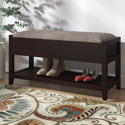 Lambrecht Seating Bench with Shoe Storage Color: Espresso