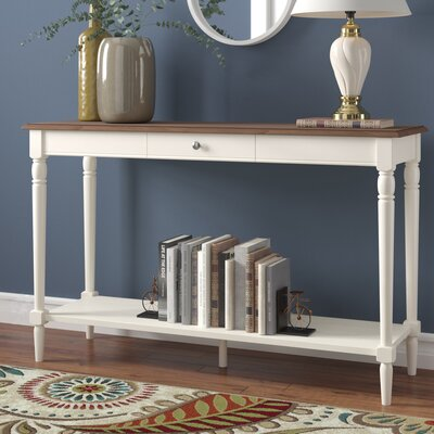 Callery Console Table Top Finish: Driftwood/White