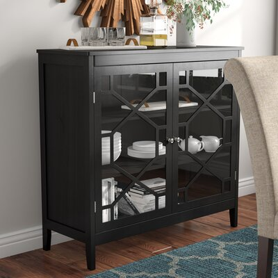 Zauber Large 2 Door Accent Cabinet Color: Black