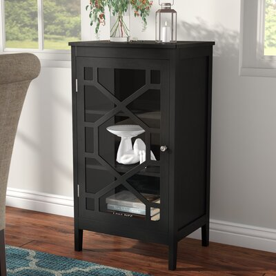 Zauber Small 1 Door Accent Cabinet Color: Black