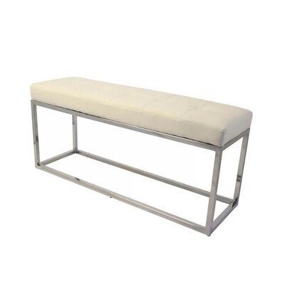 Upholstered Bench Upholstery: White