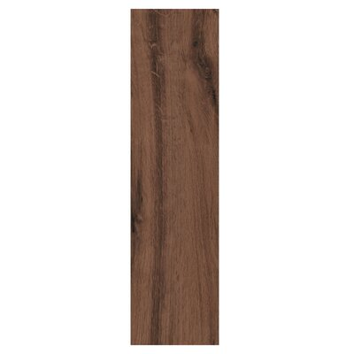 """Real Wood 6"""" x 24"""" Porcelain Wood Look Tile in Ciliegio"""