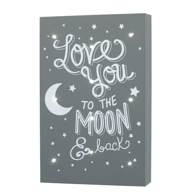 Ebbert Light Up Love You To The Moon and Back Wall Hanging