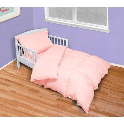 Hetherington Solid 4 Piece Toddler Bedding Set Color: Pink