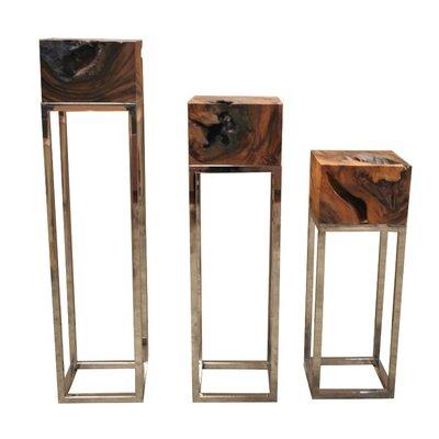 "Kleio Pedestal Telephone Table Size: 47"" H x 12"" W x 12"" D"