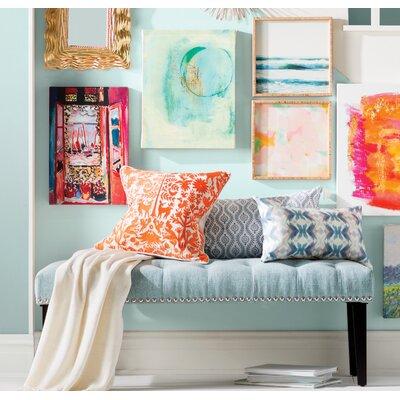 Seapine Upholstered Bench Color: Blue