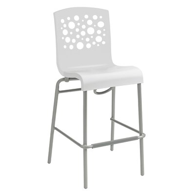 Leigh Woods Stacking Bar Stool Color: White