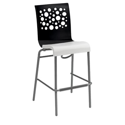 Leigh Woods Stacking Bar Stool Color: Black
