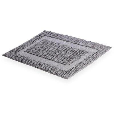 Cuadrado Absorbent 100% Cotton Decorated Bath Rug Color: Gray