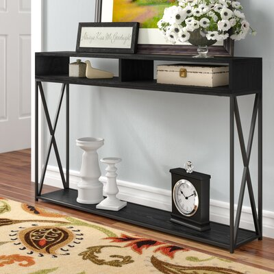 Abbottsmoor Console Table Color: Black