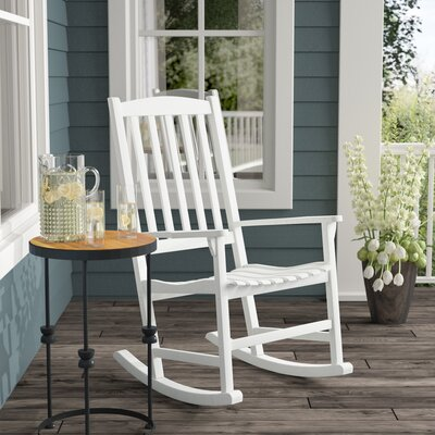 Rajesh Rocking Chair Color: White