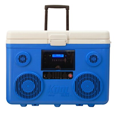 40 Qt. Koolmax Bluetooth PA System Wheeled Cooler Color: Blue