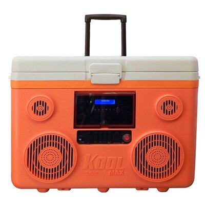 40 Qt. Koolmax Bluetooth PA System Wheeled Cooler Color: Orange