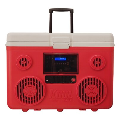 40 Qt. Koolmax Bluetooth PA System Wheeled Cooler Color: Red