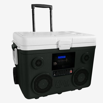 40 Qt. Koolmax Bluetooth PA System Wheeled Cooler Color: Gray