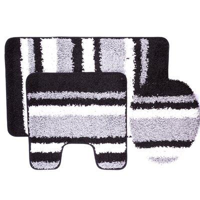 Chumley 3 Piece Bath Rug Set Color: Gray