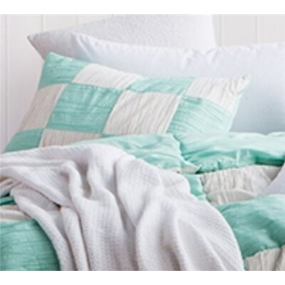 Montauk Textured Sham Size: Standard/Twin, Color: Yucca/Off White