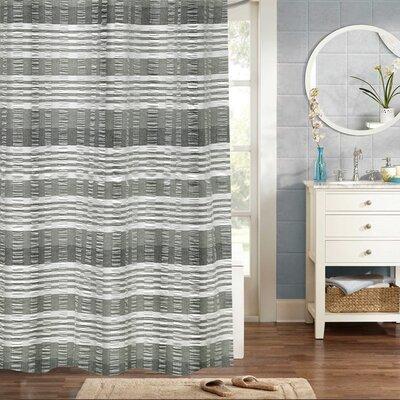 Douglass Circle Huntley Jaqcuard 100% Cotton Shower Curtain