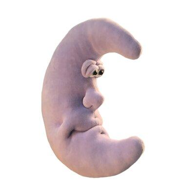 Hilger 'Moon Man' Sculptured Moon Room Decorative Figure Color: Purple