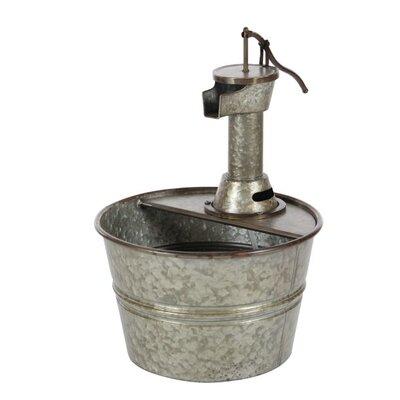 Metal Farmhouse Iron Water Pump Bucket Fountain