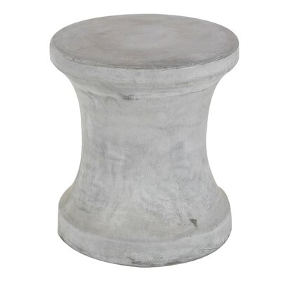 Hisle Spool Pin Shaped Accent Stool Color: Gray