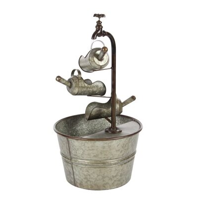 Metal Farmhouse Bucket Fountain