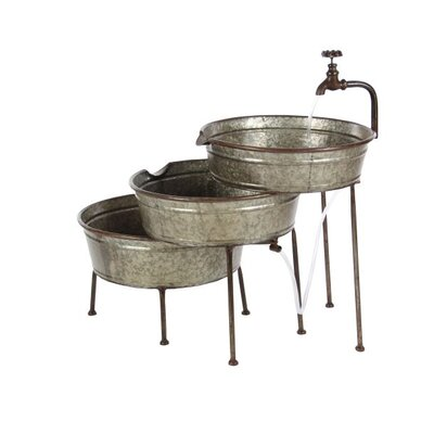 Metal Farmhouse 3 Tiered Tub Fountain